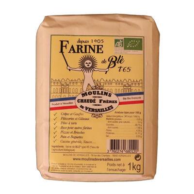 Farine de blé bio t65 - 1kg (Moulins de versailles)
