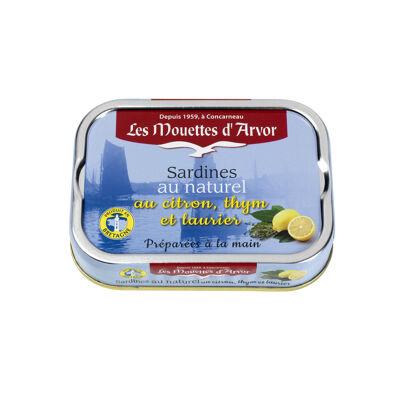 Sardines au naturel au citron, thym et laurier (Les mouettes d'arvor)