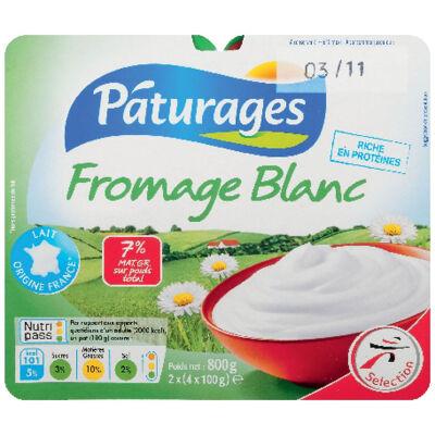 Fromage blanc nature à 7% de matière grasse (Paturages)