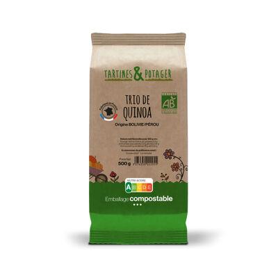 Trio de quinoa bio tartines et potager sachet 500g (Tartines & potager)