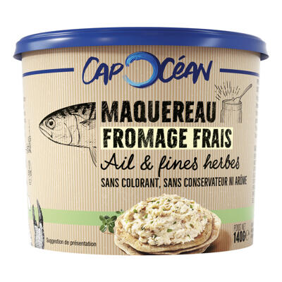 Tartinable maquereau fromage frais & ciboulette - 140g - frais (Cap océan)