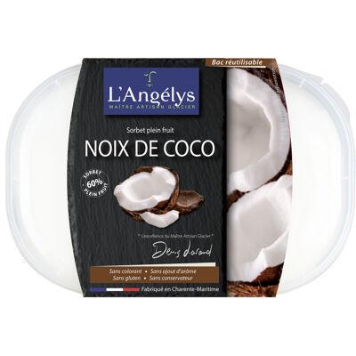 Sorbet plein fruit noix de coco 500g/750ml (L'angélys)