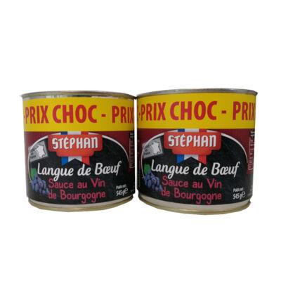 Lot 2x3/4 langue de boeuf sauce au vin bourgogne (Stephan)