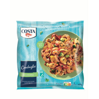 Conchiglie aux crevettes asc 600g (Costa)