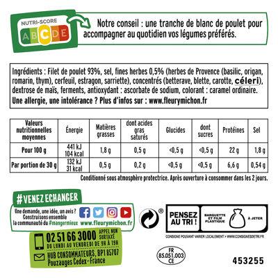6 tr. fines blanc de poulet fines herbes - halal + 3 tr. offertes (Fleury michon)