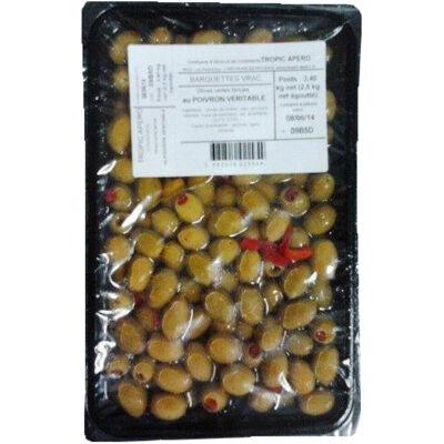 2.5 kg olive verte farcie au poivron veritable (Tropic apero)