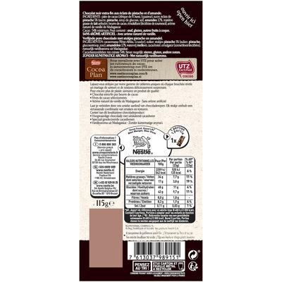 Nestle l'atelier chocolat noir, pistache amande 115g (Les recettes de l'atelier)