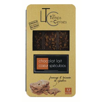 Chocolat lait spéculoos tablette 100g (Le temps des cerises)