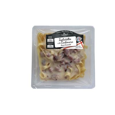 Tagliatelles carbonara sauce parmesan et emmental 300gr (Lechef)