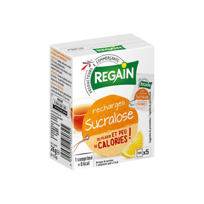 Edulcorant de table à base de sucralose, en comprimés (Regain)