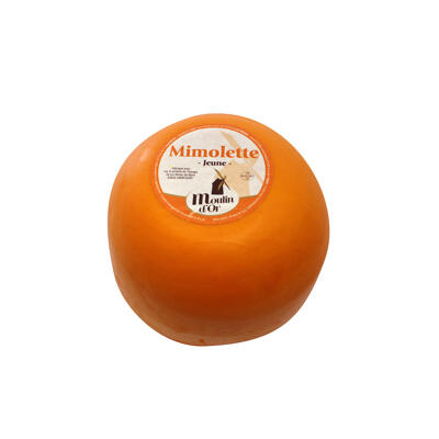 Mimolette jeune 3.5 kg, moulin d'or, origine france, lait pasteurisé de vache (Moulin d'or)