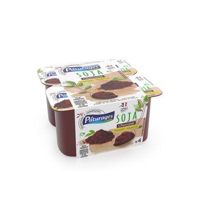 Dessert au soja, au chocolat avec ajout de calcium (Paturages)