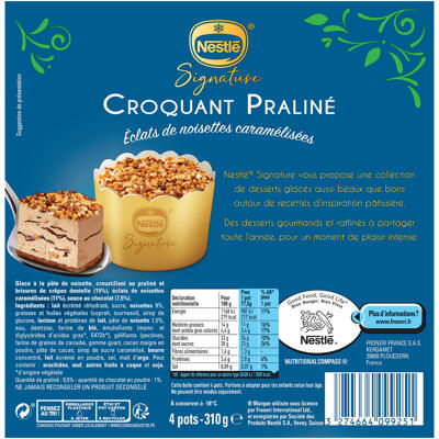 Dessert ind. croquant praline x4 310 g (Nestle)
