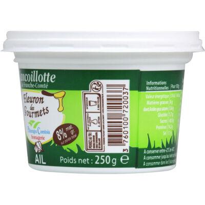Cancoillotte fleuron des gourmets ail 250g 8% mg (Fleuron des gourmets)