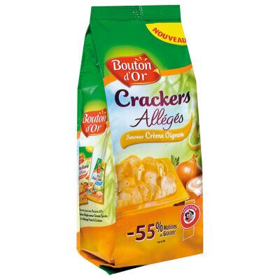 Crackers allégés saveur crème oignon (Bouton d'or)