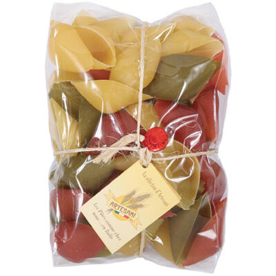 Pâtes conchiglioni 3 couleurs 500g (Artesani)