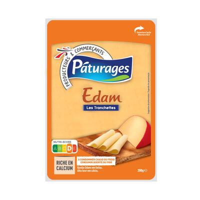 Edam en tranches - fromage à pâte pressée non cuite (Paturages)