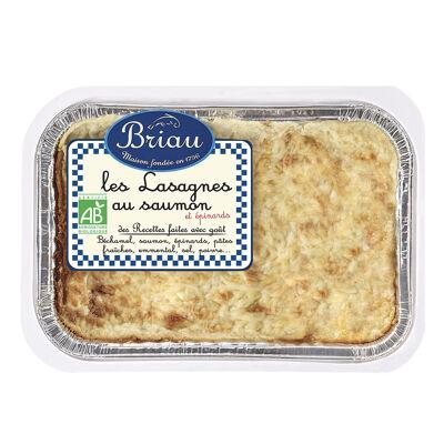 Lasagnes saumon épinards biologiques 550g (Maison briau)