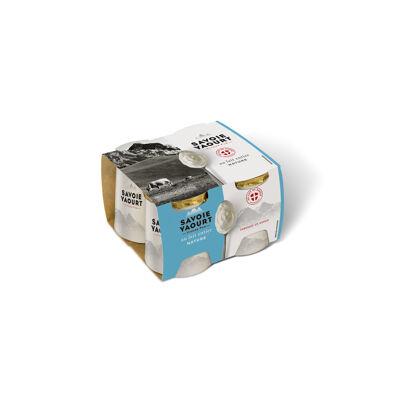 Yaourt au lait entier pot carton nature 125g x 4 (Savoie yaourt)