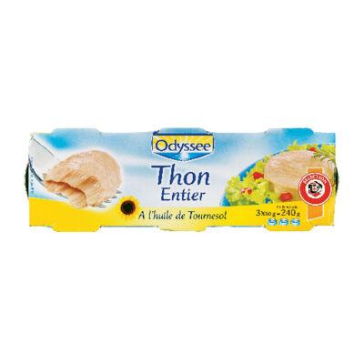 Thon entier à l'huile de tournesol (Odyssee)