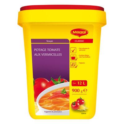 Potage tomate aux vermicelles maggiboîte de 900 g pour 12 l soit 60 assiettes (Maggi)
