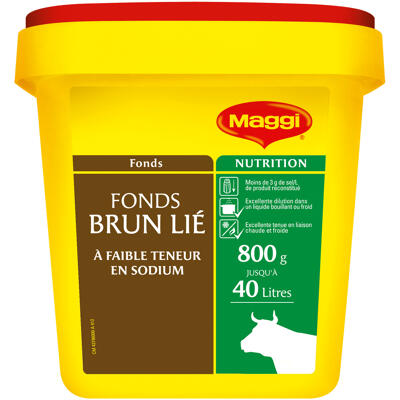 Fonds brun lié à faible teneur en sodium maggi - boîte 800 g pour 20 l à 40 l (Maggi)