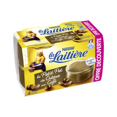 La laitiere le petit pot de creme cafe 4x100g offre decouverte (La laitiere)