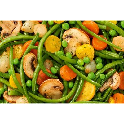 Poêlée champêtre - haricots verts, pois, carottes et carottes jaunes, champignons (Bonduelle)