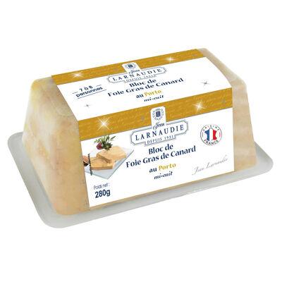 Bloc de foie gras de canard origine france au porto 280g (Jean larnaudie)