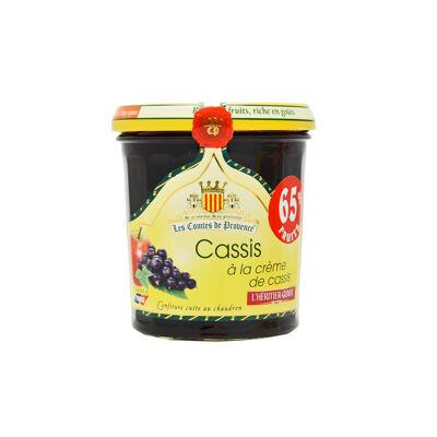 Confiture de cassis a la crème de cassis 340g (Les comtes de provence)