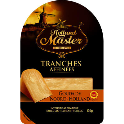 Holland master gouda de noord holland aop tranches affinees 130g (Holland master)