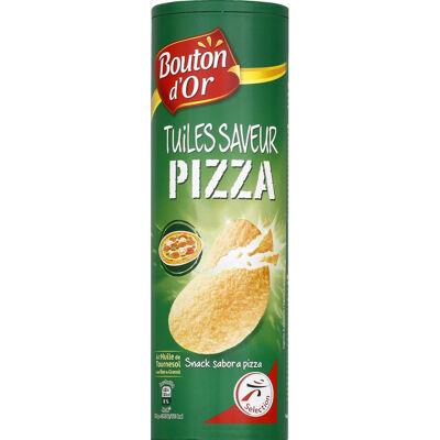 Tuiles à base de pomme de terre, goût pizza (Bouton d'or)