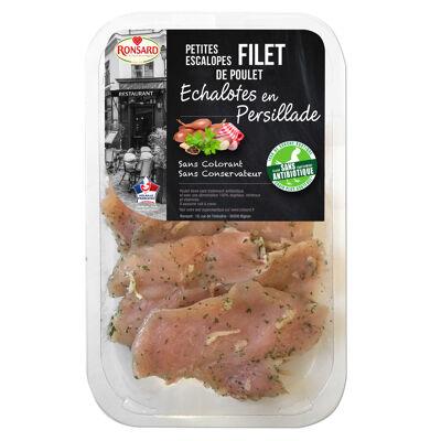 Petites escalopes poulet échalotes sans antib sat rd (Ronsard)