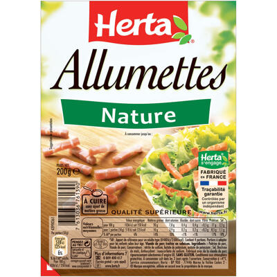 Herta allumettes nature - 200g (Herta)