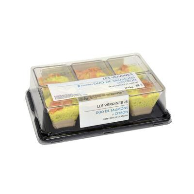 6 verrines duo de saumons et citron 45 gr (Mix buffet)