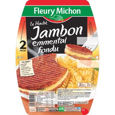 Le haché de jambon à l'emmental fondu 2 x 100 g (Fleury michon)