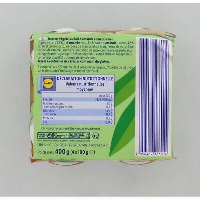 Dessert végétal au lait d'amande au caramel (Envia)
