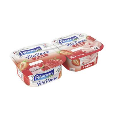 Vita pause - spécialité laitière fraise (Paturages)