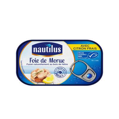 Foie de morue fume citron msc nautilus (Nautilus)