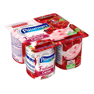 Frutimax - yaourt cerise avec morceaux de fruits (Paturages)