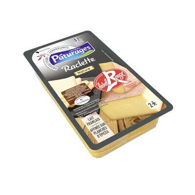 Raclette label rouge au lait pasteurisé en tranches (Paturages)