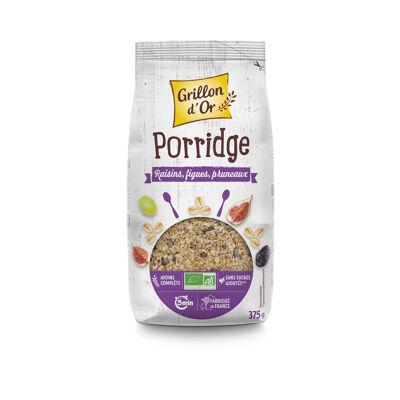 Porridge raisins figues pruneaux 375g go ab* (Grillon d'or)