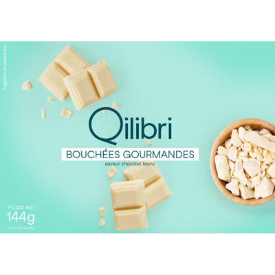 Bouchées gourmandes chocolat blanc (Qilibri)
