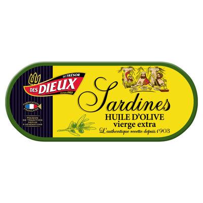 1/15 sardines à l'huile d'olive vierge extra 46grs (Le tresor des dieux)