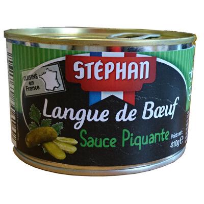 Langue boeuf sauce piquante 410 g (Stephan)