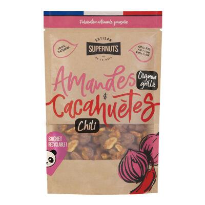 Amandes oignon grillé et cacahuètes chili (Supernuts)
