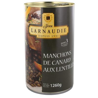 Manchons de canard aux lentilles boite 1260g (Jean larnaudie)
