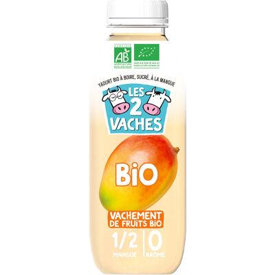 Les 2 vaches yaourt à boire bio mangue 250ml (Les 2 vaches)