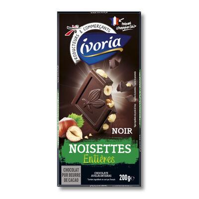Chocolat noir aux noisettes entières (Ivoria)