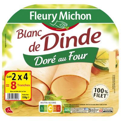 Lot 2(4 tr. blanc de dinde doré au four) (Fleury michon)